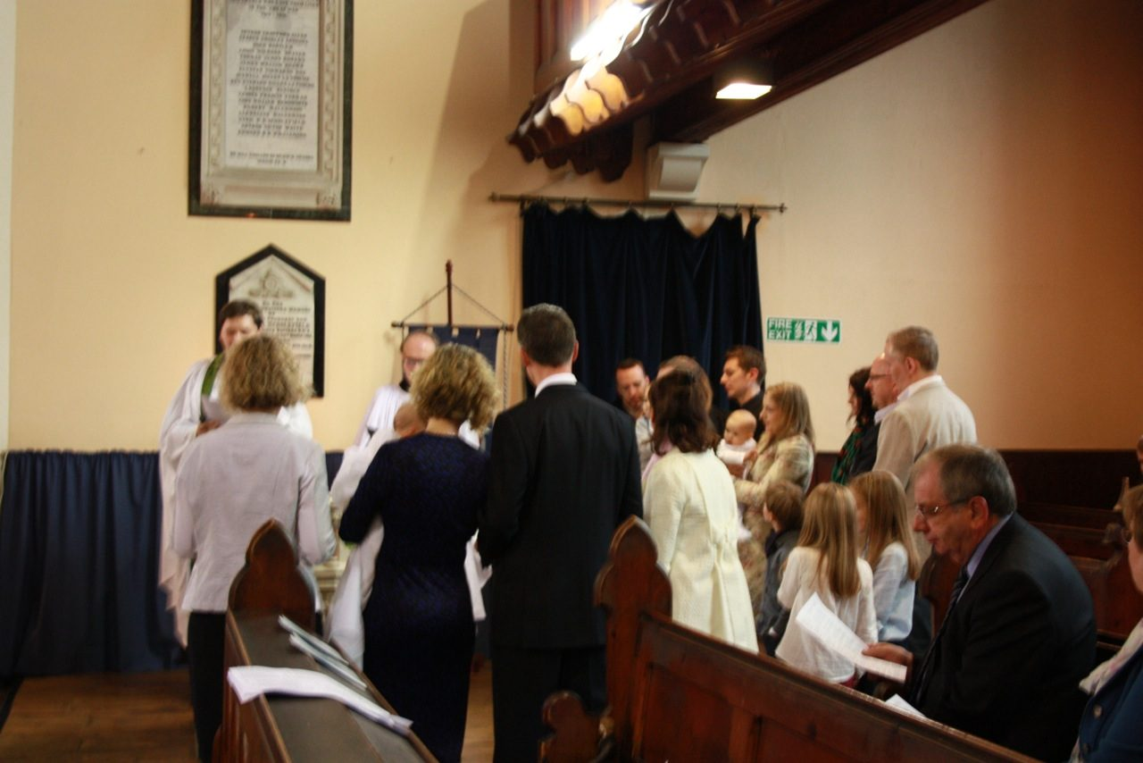 Christening at Font